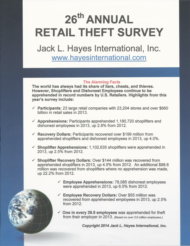 26th Annual Retail Theft Survey Cover Pic